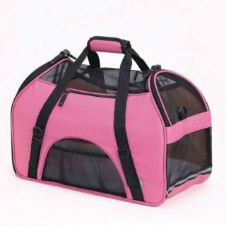 Bergan Soft Dog Cat Pet Airline Travel Comfort Carrier Rose Wine Small Ber 88043