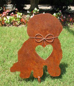 Bichon Frise Dog Metal Garden Stake Yard Garden Art Pet Memorial 2