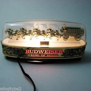 Anheuser Busch Vintage Bud Budweiser Beer Clydesdale Cash Register Light Sign