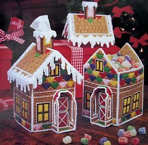 Enchanted Cottage Plastic Canvas Pattern Gingerbread House Silver Bells