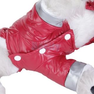 Pet Dog Hoodie Hooded Jumpsuit Winter Coat Jacket New M