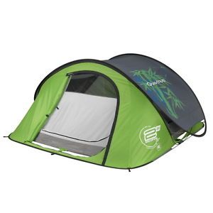 Quechua Tent Camping Pop Up Tente 2 Seconds Air III Bamboo 3 Man 3583782403360