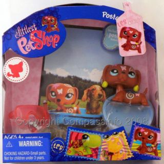New Littlest Pet Shop Postcard Pets Dachshund 1010