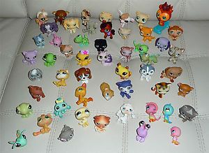 Lot Littlest Pet Shop Dachshunds Huskys Iguanas Parrots Some Retired 54 Pieces