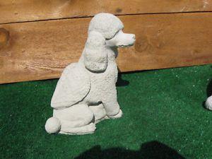 Concrete Poodle Dog Angel Memorial Grave Marker Headstone Statue Pet