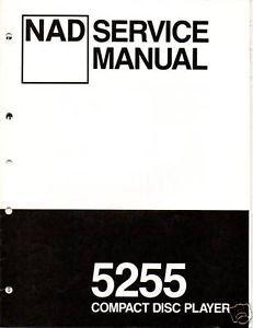Original Service Manual NAD 5255 CD Player
