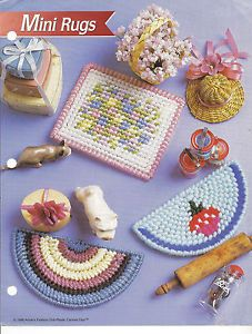 Mini Rugs Annies Attic Fashion Doll Plastic Canvas Club Doll House 3 Patterns