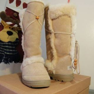 Womens Nightfall UGG Boots Tall Sand Color Size 8 New