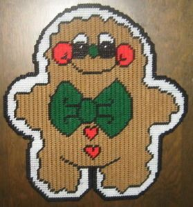 Gingerbread Man Plastic Canvas Pattern