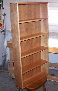 Solid Cherry Wood DVD CD Media Storage Cabinet Display Shelf Case