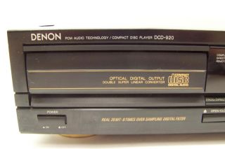 Vintage Denon DCD 920 Compact Disc Audio CD Player