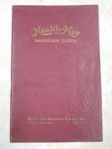 Antique 1930s Health Mor Sanitation System Vacuum Cleaner Instruction Manual