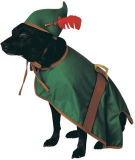 Doggie Robin Hood Pet Cute Costume Small Large Halloween Medieval for Dogs