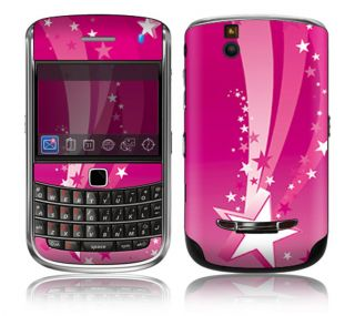 ST17 Blackberry Bold Decal Skin Sticker Cover Pink Stars
