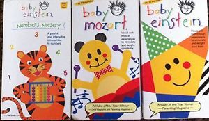 Lot of 3 Baby Einstein VHS Childrens Kids Movie Video Mozart Numbers Nursery