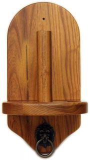 Deluxe Oak Pool Table Hand Chalk Cone Talc Holder New