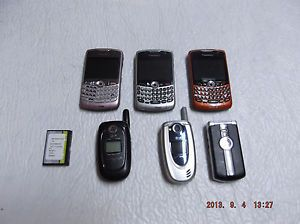 Cell Phone Lot Blackberry 8330 Flip Phones Verizon LG Sprint Cingular