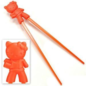 Kids Training Chopsticks Orange Hello Kitty Child Helper Learning Toy Cheater