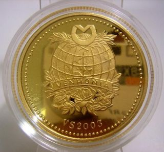 China Zodiac Color Ox 22K Gold Plated Proof Coin