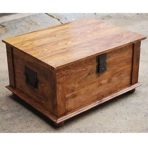 Handmade Solid Rosewood Storage Box Trunk Coffee Table Chest Rustic Furniture