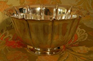 Richard Dimes Shreve Treat Eacret Sterling Silver Deco Fluted Center Bowl