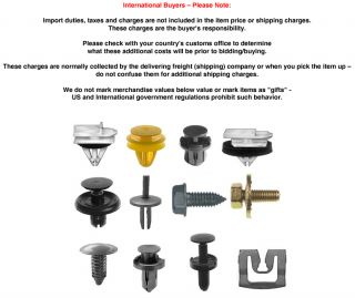 50 Ford Door Trim Panel Fasteners Clips 383033 S101