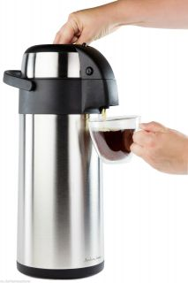 Andrew James 5 Litre Pump Action Airpot Flask Urn Catering Coffee Tea Hot Drinks