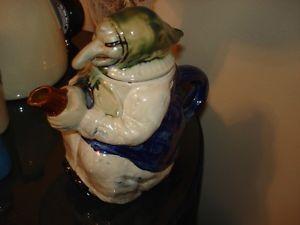 RARE Vintage Kitchen Witch Teapot Tea Coffee Pot