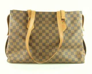 Authentic Louis Vuitton Columbine M99037 Damier Leather Tote Bag Purse France