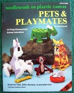 Plastic Canvas Pattern Booklet Pets Playmates 10 3 D Animals Turtle Schnauzer