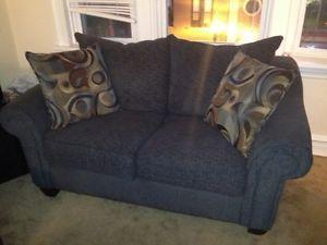 Furniture Sofa Love Seat TV Stand CD Book Shelf and Microwave