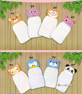 New Cute Baby sweat Cartoon Back Absorb Perspiration Wipes Cloth Absorbent