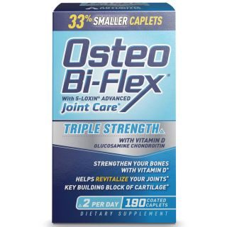 Osteo Bi Flex Triple Strength w Vitamin D Glucosamine Chondroitin MSM 190 Ct