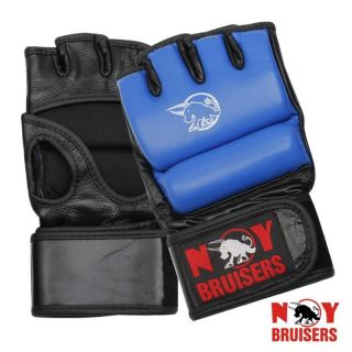 New Cowhide Leather MMA Grappling Training Cage Fight Gloves
