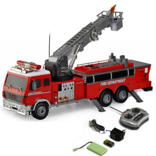 Hobby Engine Heavy Equipment RTR R C Fire Engine Water Pump Ladder Model 1 18