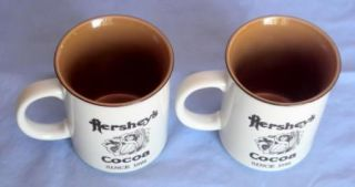 Pair Hershey's PA Cocoa Milk Delivery Truck Ceramic Cup