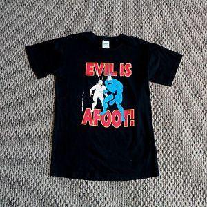 The Tick Arthur Comic Cartoon T Shirt Adult Small SM Black Tee Evil Is Afoot