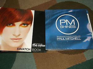 Paul Mitchell The Color and PM Shines Hair Color Swatch Book New