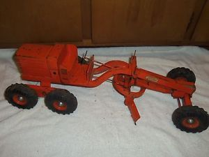 "Vintage Doepke Model Toys Orange 26"" Adams Diesel Motor Grader Construction Toy"