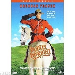 Dudley do Right DVD 1999 Widescreen Sarah Jessica Parker Brendan Fraser 025192070723