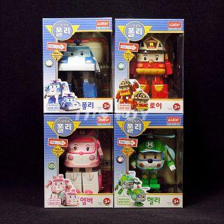 Academy Robocar Poli Transformer Robot Toys Poli Roy Amber Helly 4 Sets Lot New