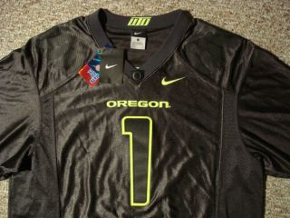 NWT Mens XL Nike Oregon Ducks Pro Combat Rivalry Sewn Football Jersey BCS Volt