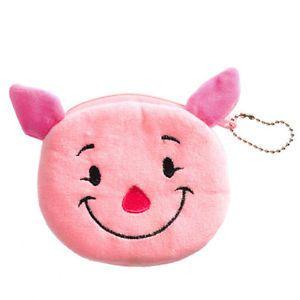 Cartoon Cute Bag Pink Smile Pig Change Coin Case Plush Purse Handbag Wallet