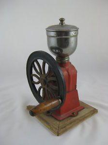 Vintage Cast Iron Tabletop Single Wheel Coffee Mill Coffee Grinder