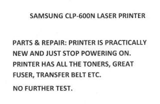 Samsung CLP 600N Color Laser Printer Parts Repair CLP 600N