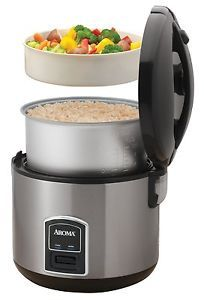 New Aroma Rice Cooker Food Steamer Stainless Steel Finish Arc 900SB
