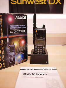 Alinco DJ X2000E Ultra Wideband Communications Receiver Scanner