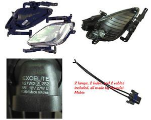 Hyundai 2011 2012 2013 Elantra Fog Light Lamp Complete Wiring Harness Kit