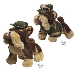 Zanies Ruff Neck Military Plush Dog Toy Barking Sarge
