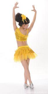 Girls Kids Jazz Latin Ballet Party Costume Dance Dress Skirt Headband Bracelet